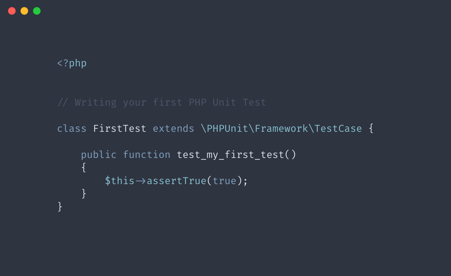 Writing your first PHP Unit Test | Learning PHPUnit - Part 2
