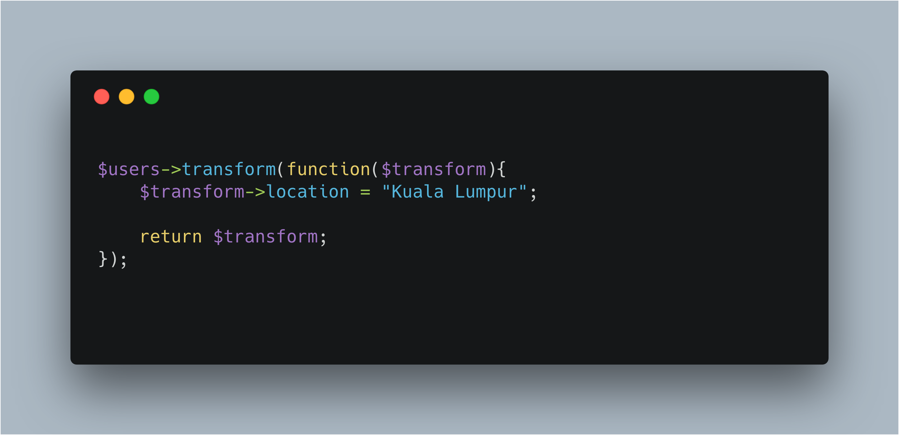 Image for How to use Laravel Transform
