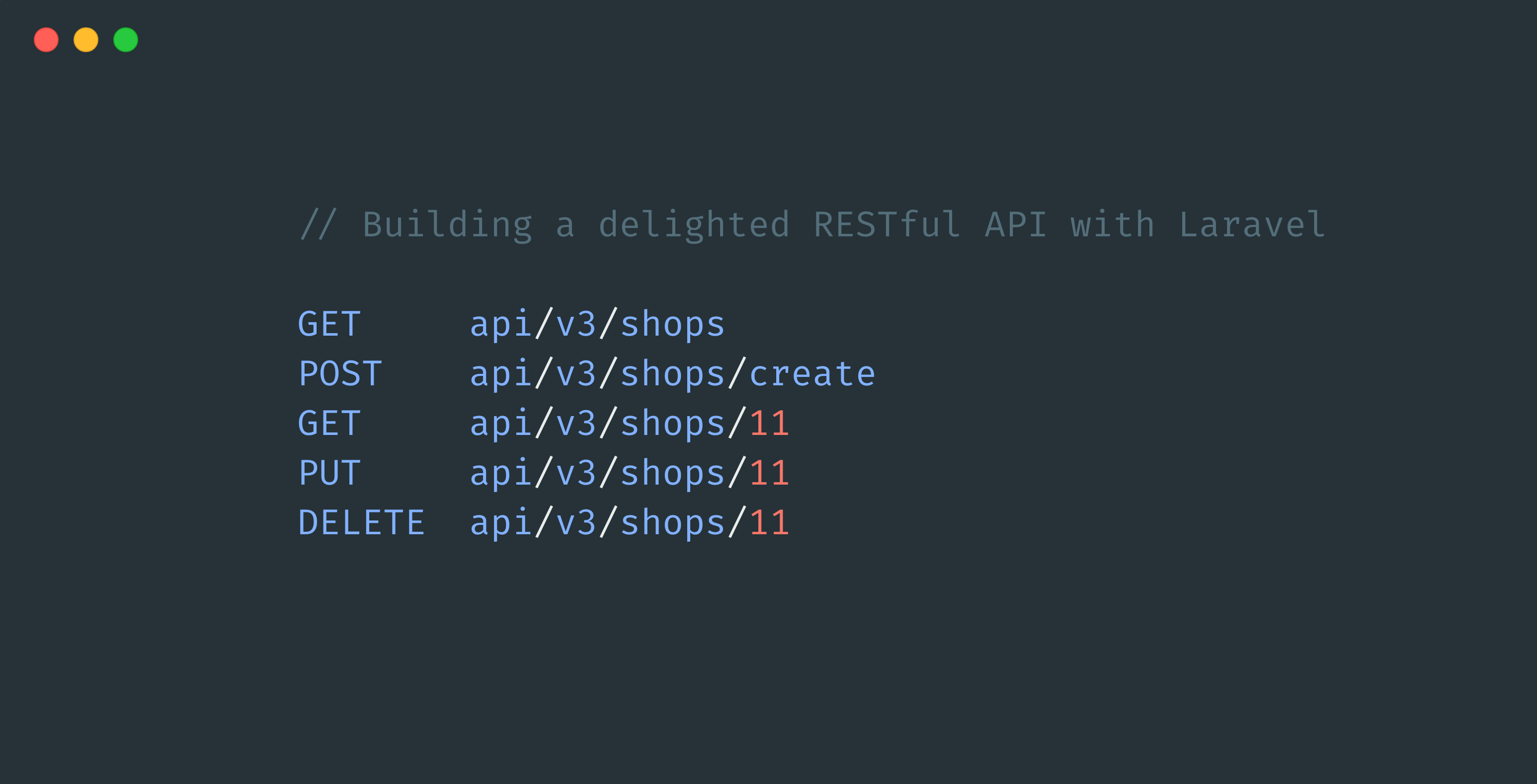 Image for Building a delighted RESTful API with Laravel