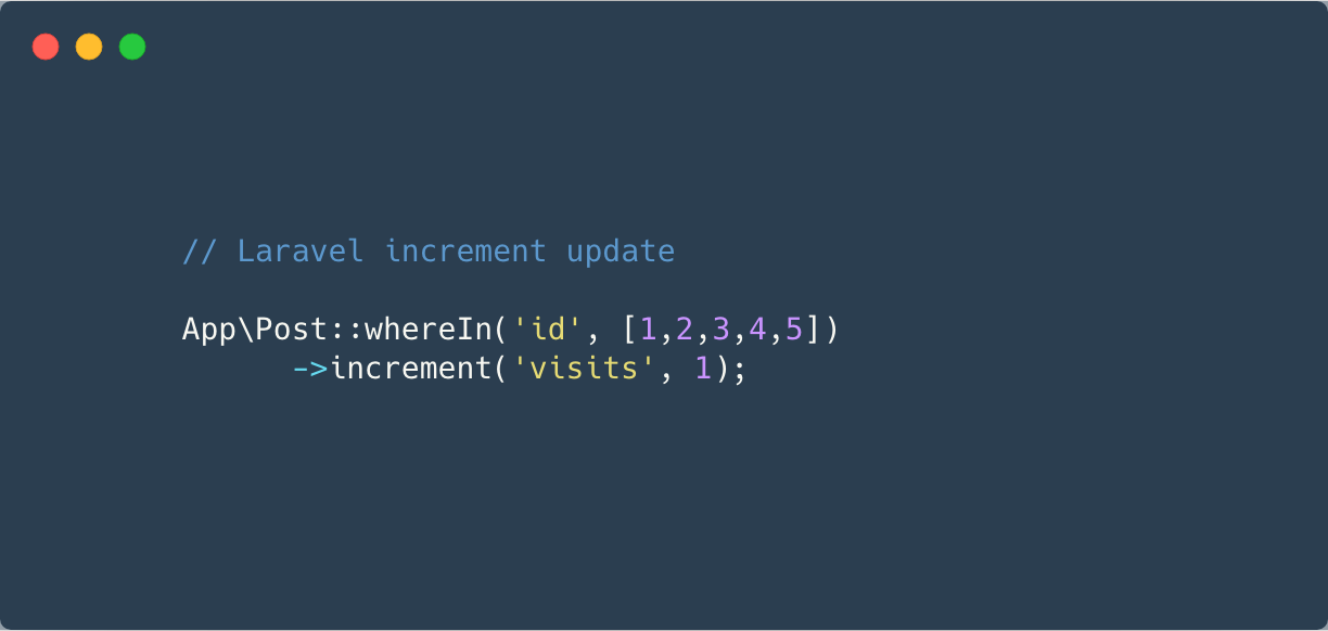 Laravel increment column and Update Records