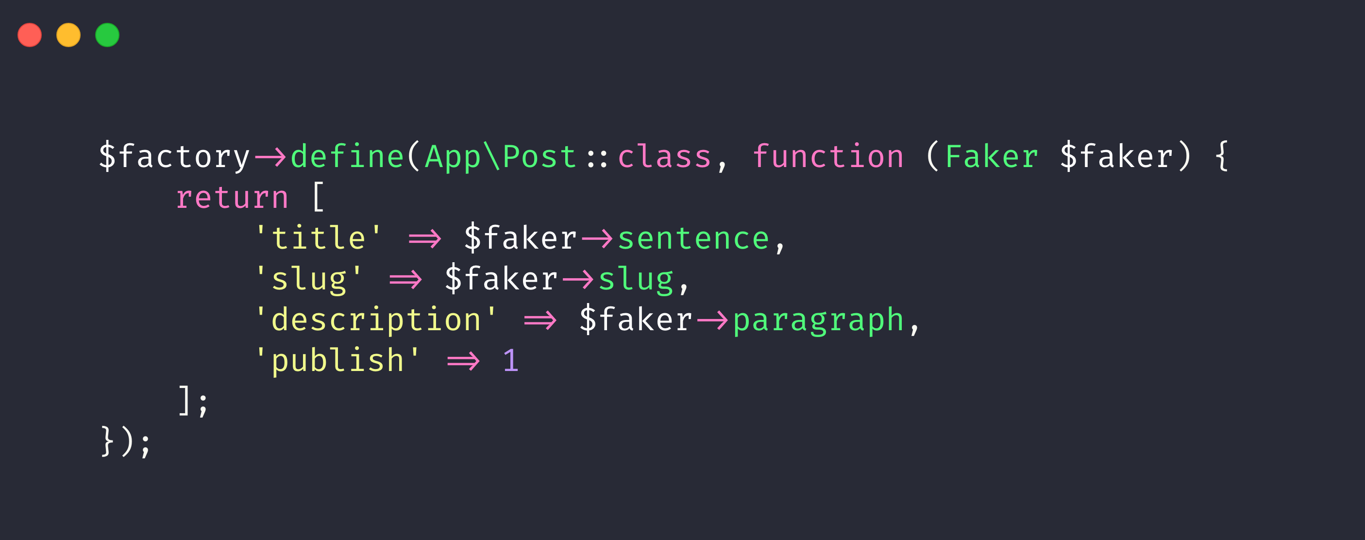 Image for How to use Slug in Laravel Factory