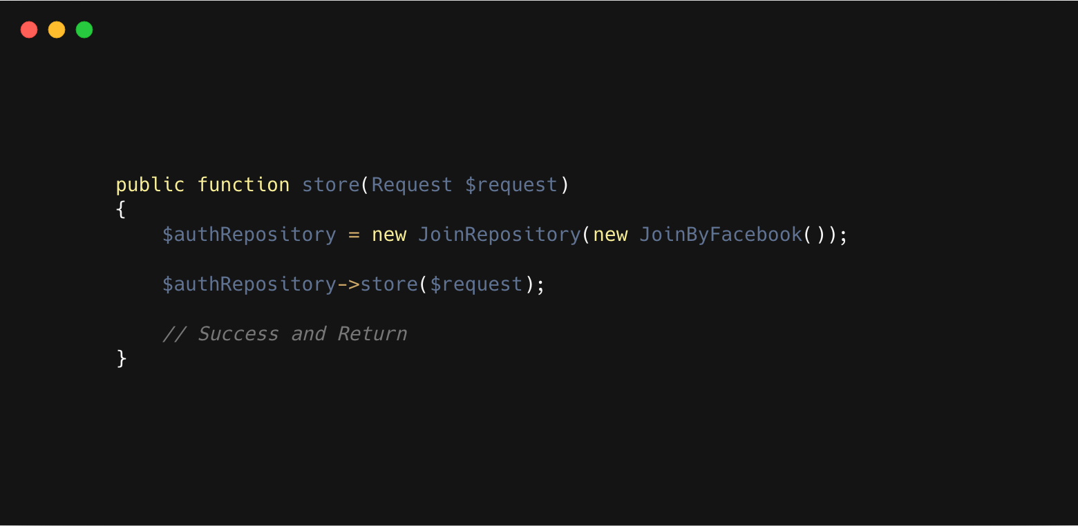 Implement the Open Closed Principle in Laravel for Sign Up