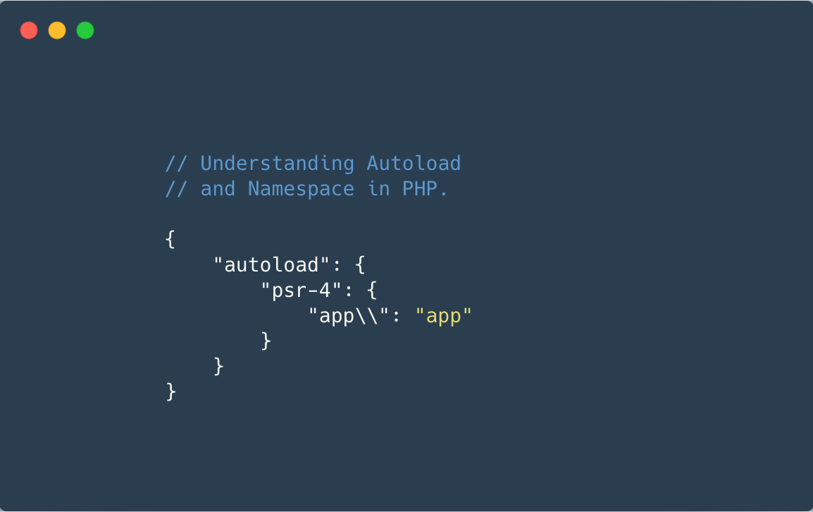 Understanding Autoload and Namespace in PHP