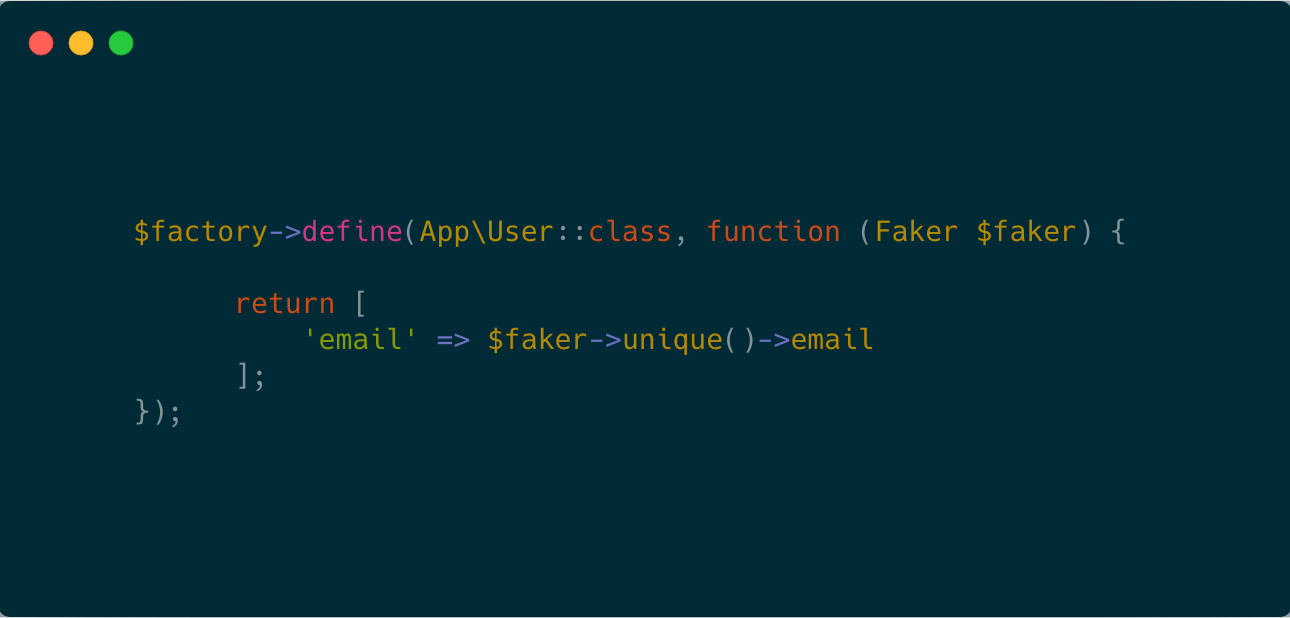 How to add unique email in Laravel Faker